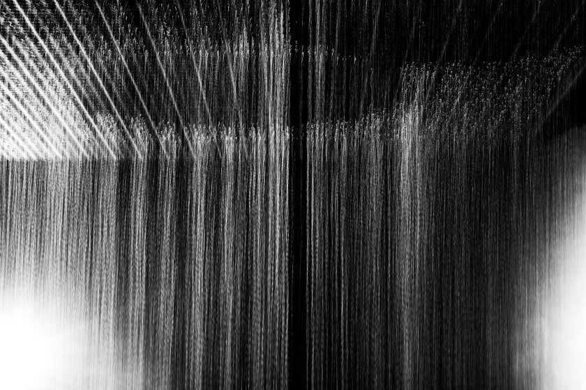 Inside The Rain Room at The Barbican, London