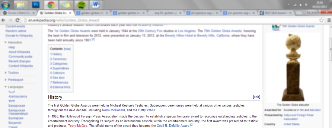 Just one reason to love Wikipedia...