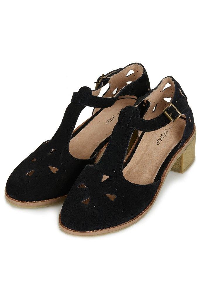 TOPSHOP -Mini block heel T-bar shoes