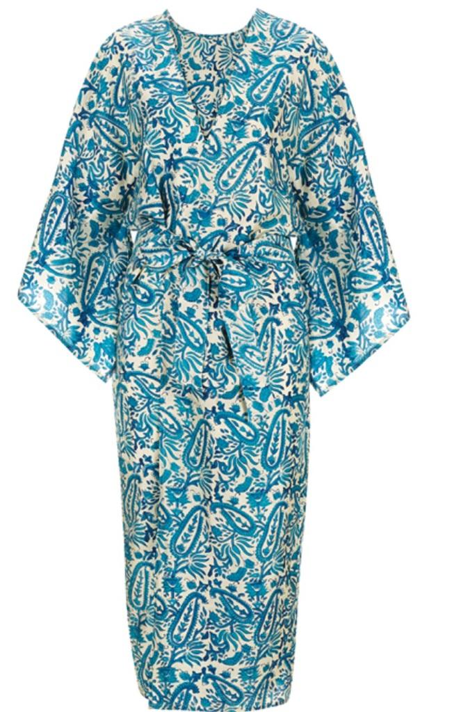 Silk Kimono Dressing gown Key to Freedom Topshop