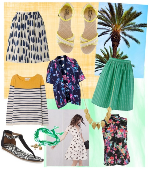 Dream summer wardrobe moodboard